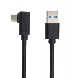 Cablu USB 3.0-C unghi 90 grade la USB-A 2m T-T Negru, KU31CZ2BK