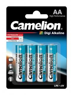 Set 4 baterii AA LR6 1.5V Digi Alkaline, Camelion