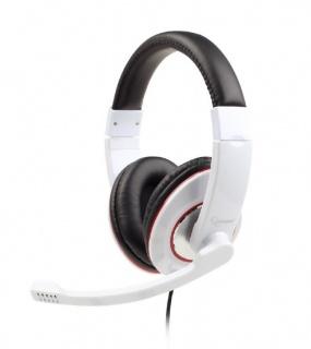 Casti stereo cu microfon Alb, Gembird MHS-001-GW