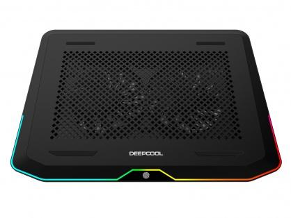 """Stand notebook 17"""" cu iluminare RGB 2 x fan 14cm + 2 x USB 3.0, Deepcool N80 RGB"""