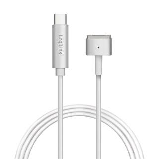 Cablu de incarcare USB-C la Apple MagSafe 2 T-T 1.8m Argintiu, Logilink PA0226