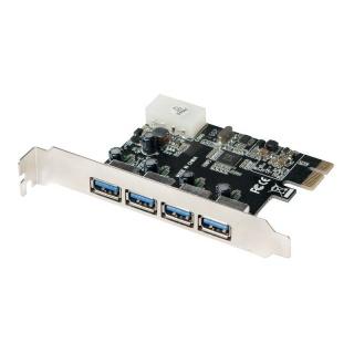 PCI Express la 4 x USB 3.0, VIA, Logilink PC0057A