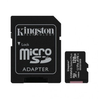 Card de memorie micro SDXC 128GB clasa 10 Canvas Select Plus, Kingston SDCS2/128GB