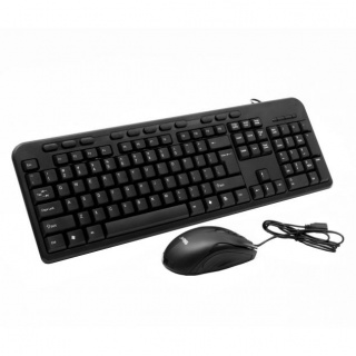 Kit tastatura multimedia + mouse optic USB negru, Spacer SPDS-1691