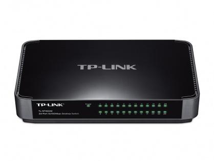 Switch 24 Port-uri 10/100 desktop, carcasa plastic, TP-LINK TL-SF1024M