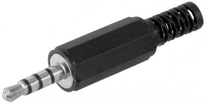 Conector pentru lipit Stereo jack 3.5 mm Tata 4 contacte, cjack4m