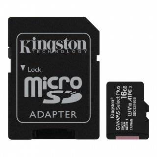 Card de memorie micro SDHC 16GB clasa 10 Canvas Select Plus, Kingston SDCS2/16GB