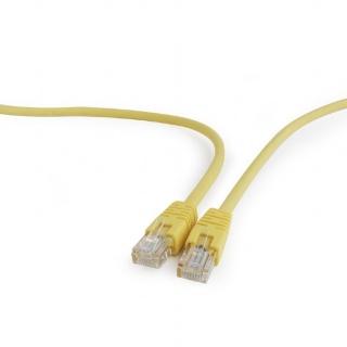 Cablu retea UTP Cat.5e 1m Galben, Gembird PP12-1M/Y