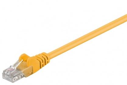 Cablu retea UTP cat.6 Galben 0.25m, sp6utp002y