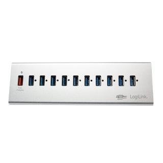 HUB USB 3.0 cu 10 porturi + 1 x Incarcare rapida/Fast Charging 3.0, Logilink UA0229