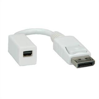 Adaptor Displayport la mini Displayport T-M 4K@30Hz Alb, Roline 12.03.3132-20