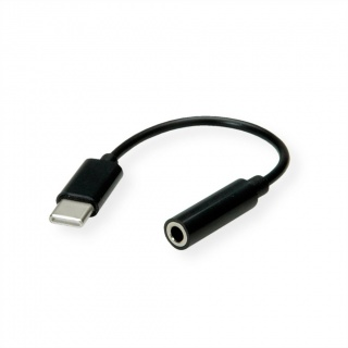Adaptor audio USB-C la jack stereo 3.5mm T-M 13cm, Value 12.99.3214