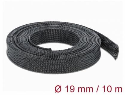 Plasa pentru organizarea cablurilor 10 m x 19 mm Negru, Delock 18903