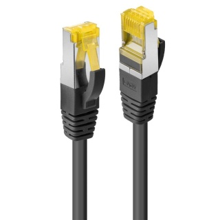 Cablu de retea S/FTP cat 7 LSOH cu mufe RJ45 Negru 1m, Lindy L47307