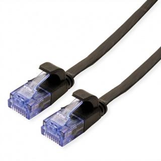 Cablu retea UTP Flat cat.6A 2m Negru, Value 21.99.0822