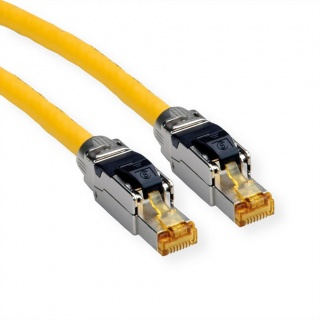 Cablu de retea RJ45 S / FTP- (PiMF-) Cat.8 LSOH fir solid Galben 1m, Roline 21.15.1851