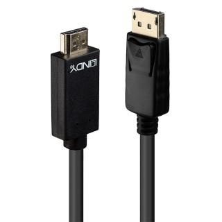 Cablu Displayport la HDMI 4K 2m T-T Negru, Lindy L36922