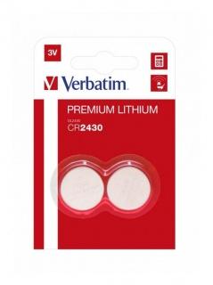 Set 2 baterii CR2430 3V litiu, Verbatim 49937