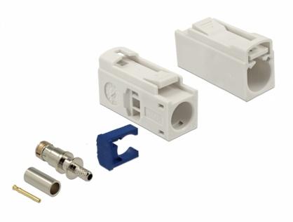 Conector FAKRA B mama 25mm pentru sertizat, Delock 89686