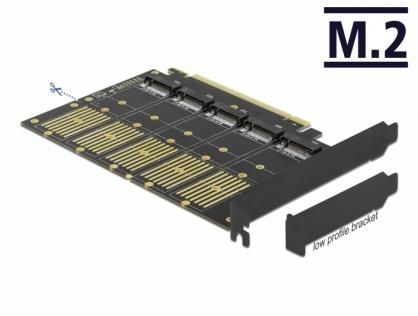 PCI Express la 5 x M.2 Key B / 5 x SATA interne, Delock 90435