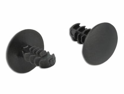 Set 10 bucati cleme pentru acoperirea gaurilor - 3.2mm Negre, Delock 60188