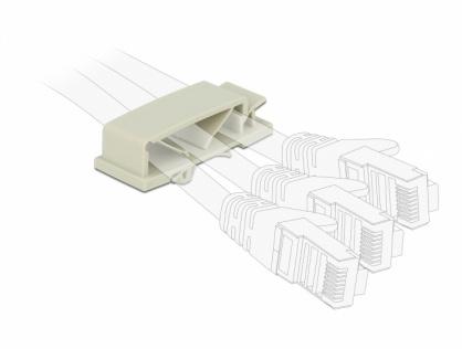 Set 10 bucati suport cu 3 sloturi pentru cablu cu montare PCB Gri, Delock 60186