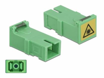 Set 4 buc cupla SC Simplex M-M cu protectie laser flip, Delock 85925