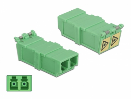 Set 4 buc cupla LC Duplex Multi Mode M-M cu protectie laser flip, Delock 85927