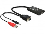 Convertor VGA la HDMI cu Audio, Delock 62408