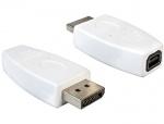 Adaptor DisplayPort la mini DisplayPort T-M alb, Delock 65240