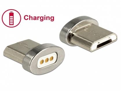Adaptor magnetic pentru incarcare micro USB-B pentru 85705/85725, Delock 65929