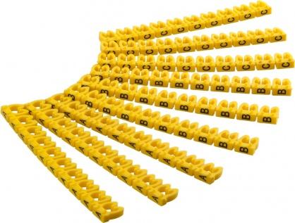 Set 90 clips pentru marcarea cablurilor cu diametru de pana la 2.5-4mm Galben, Goobay 72517