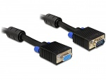 Cablu prelungitor SVGA 15T-15M, ecranat 2m, Delock 82564