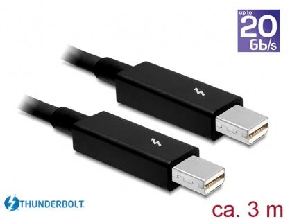 Cablu Thunderbolt 2 T-T 3m Negru, Delock 83151