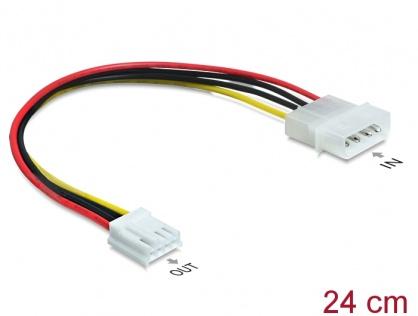 Cablu de alimentare Molex 4 pini la floppy T-M, Delock 83184