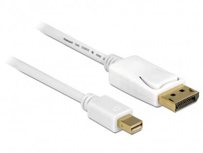 Cablu Mini Displayport la Displayport T-T 4K Alb 3m, Delock 83483