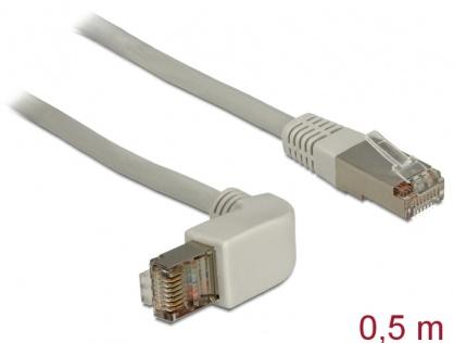Cablu retea Cat.6A SSTP unghi/drept 0.5m, Delock 83644