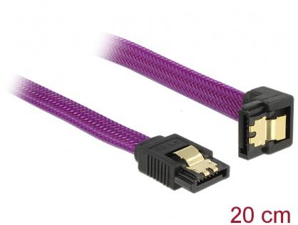 Cablu SATA III 6 Gb/s 20cm drept/unghi Premium, Delock 83694