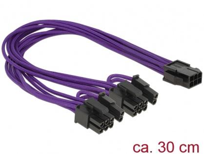 Cablu alimentare PCI Express 6 pini la 2 x 8 pini M-T, Delock 83704