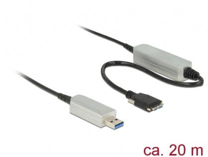 Cablu optic activ USB 3.0 la micro USB-B T-T 20m, Delock 83724