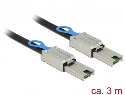 Cablu Mini SAS SFF-8088 la Mini SAS SFF-8088 3m, Delock 83736