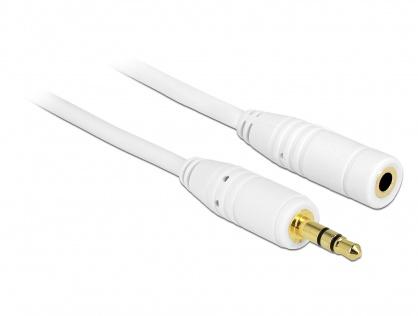 Cablu prelungitor audio jack 3.5mm 2m Alb, Delock 83767