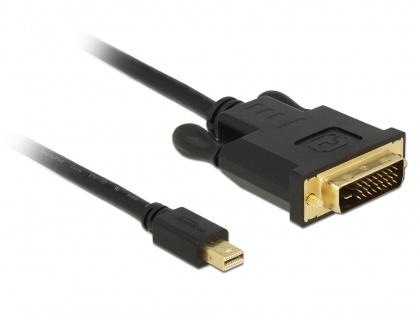 Cablu mini Displayport 1.1 la DVI 24+1 pini T-T 3m Negru, Delock 83990