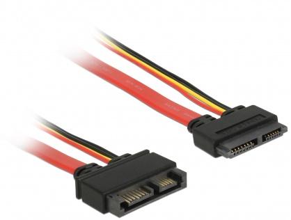Cablu prelungitor Slim SATA 13 pini T-M 30cm, Delock 84374