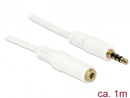 Cablu prelungitor audio jack 3.5mm 4 pini T-M 1m, Delock 84480