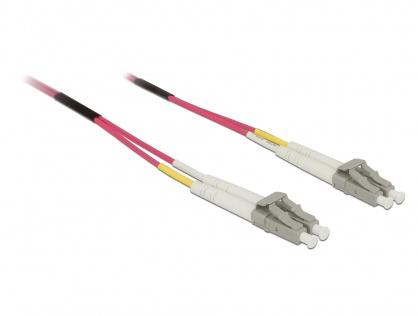 Cablu fibra optica LC- LC Multimode OM4 1m, Delock 84640