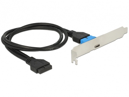 Bracket pin header USB 3.0 la 1 x USB tip C extern Low Profile, Delock 84755