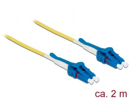 Cablu fibra optica LC - LC Singlemode OS2 Uniboot 2m, Delock 85084