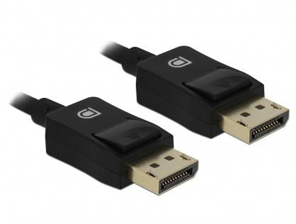 Cablu Displayport coaxial 8K60Hz T-T 5m Negru, Delock 85304