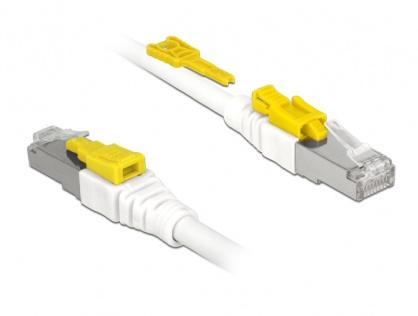 Cablu de retea RJ45 cat 6A cu sistem de blocare 0.5m, Delock 85330